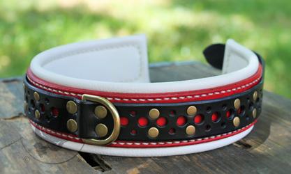 Red & Black Filigree Collar