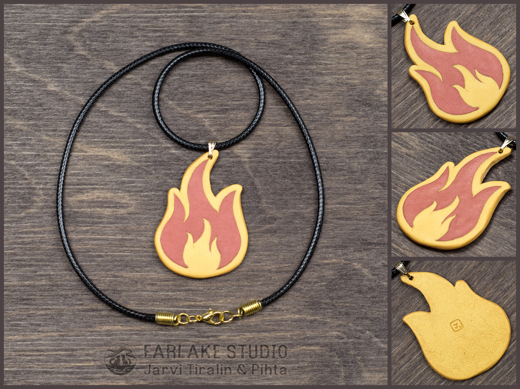 Commission - Flame pendant