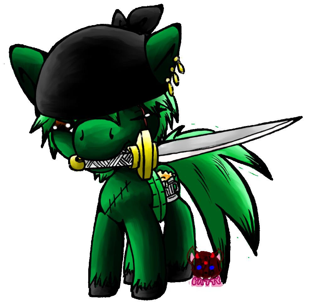 chibi ponies #4:  zoro (fan-pony)