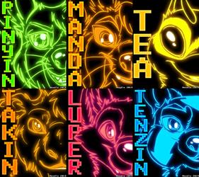 RF Cyber Glow Badges