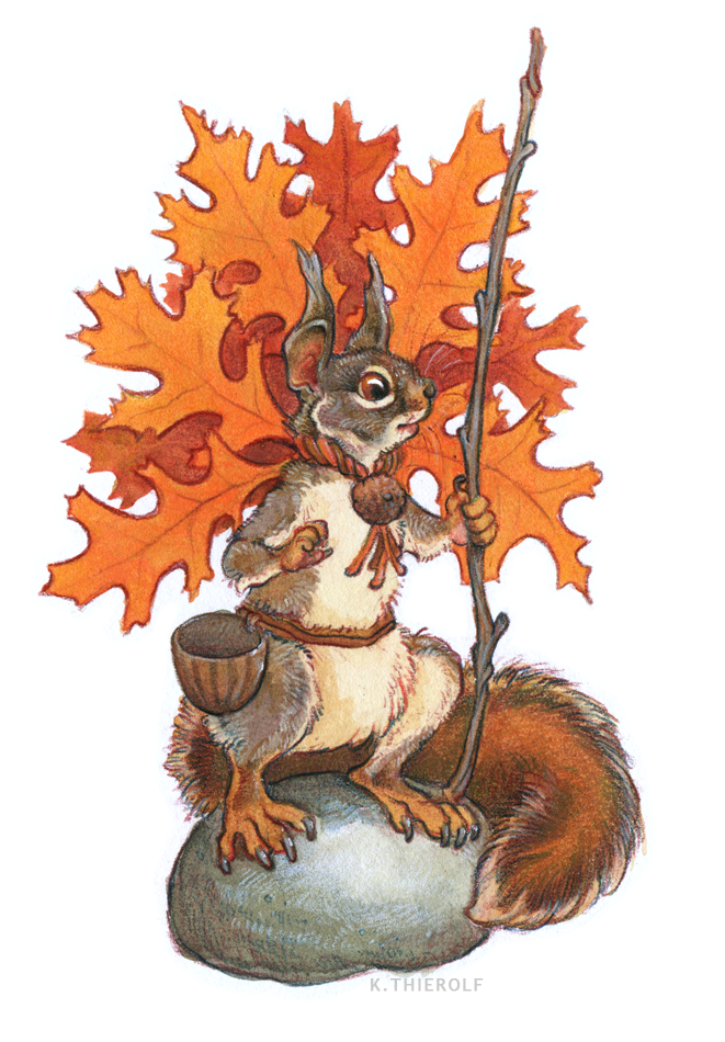 Pin Oak Squirrel
