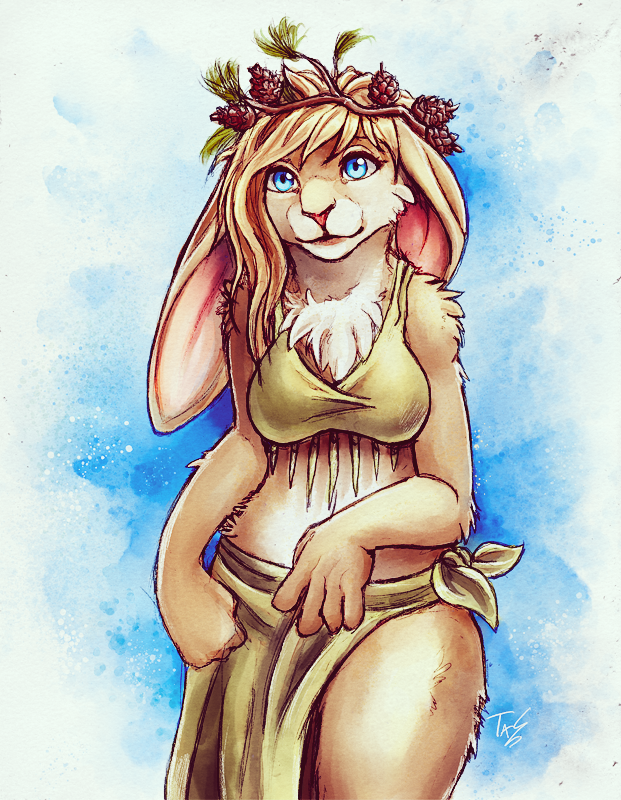 Pine Cone Bunny - Sketch