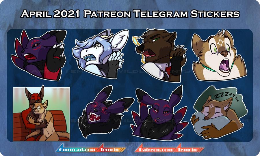 PTR April Telegram Stickers