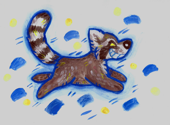 Naughty raccoon