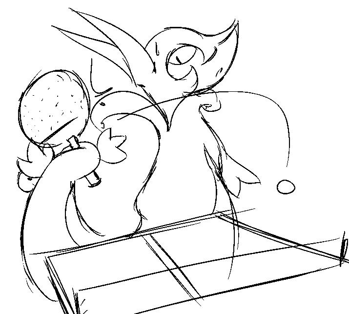 Serperior plays Ping-Pong