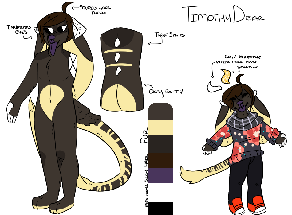 Timothy Dear reference sheet