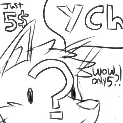 Most recent image: YCH icon speech bubble