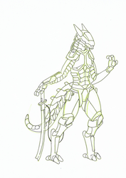 Armored Synth Sergal
