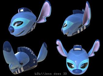 Ohana! Stitch helmet design