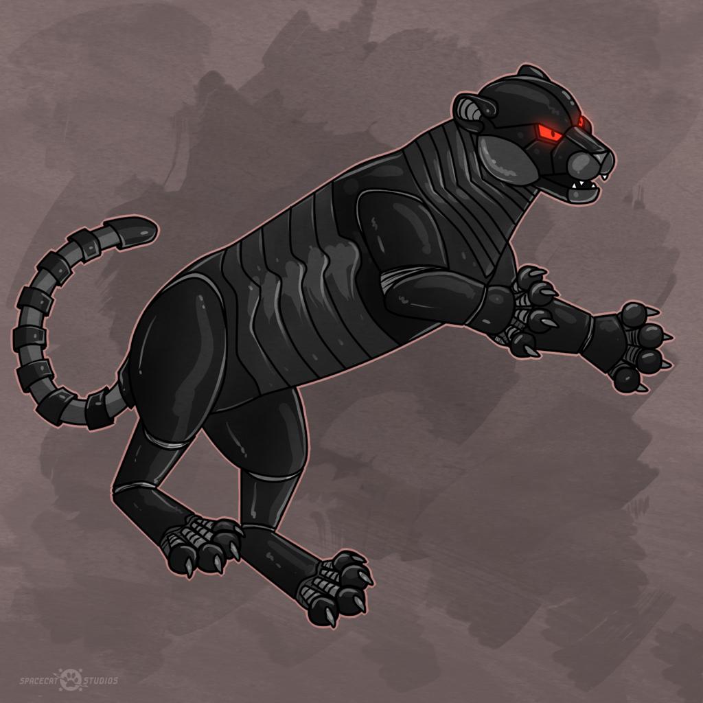 Leaping Cyberjag by Keetah Spacecat