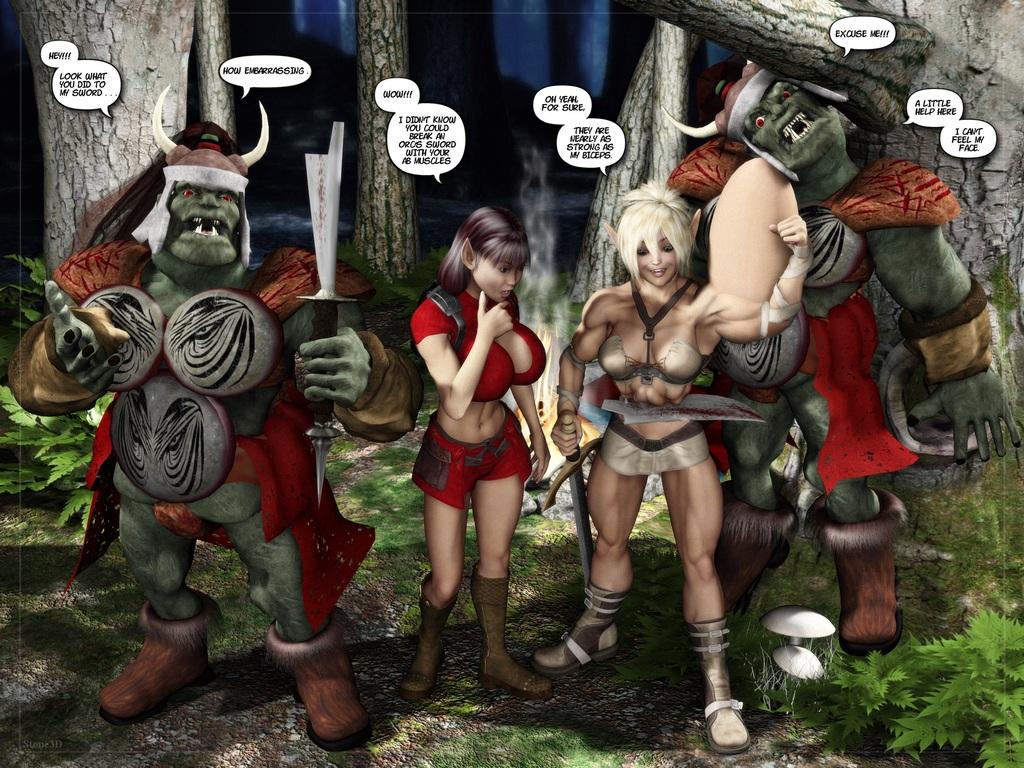 Cinnibar, Daisy and Orcs