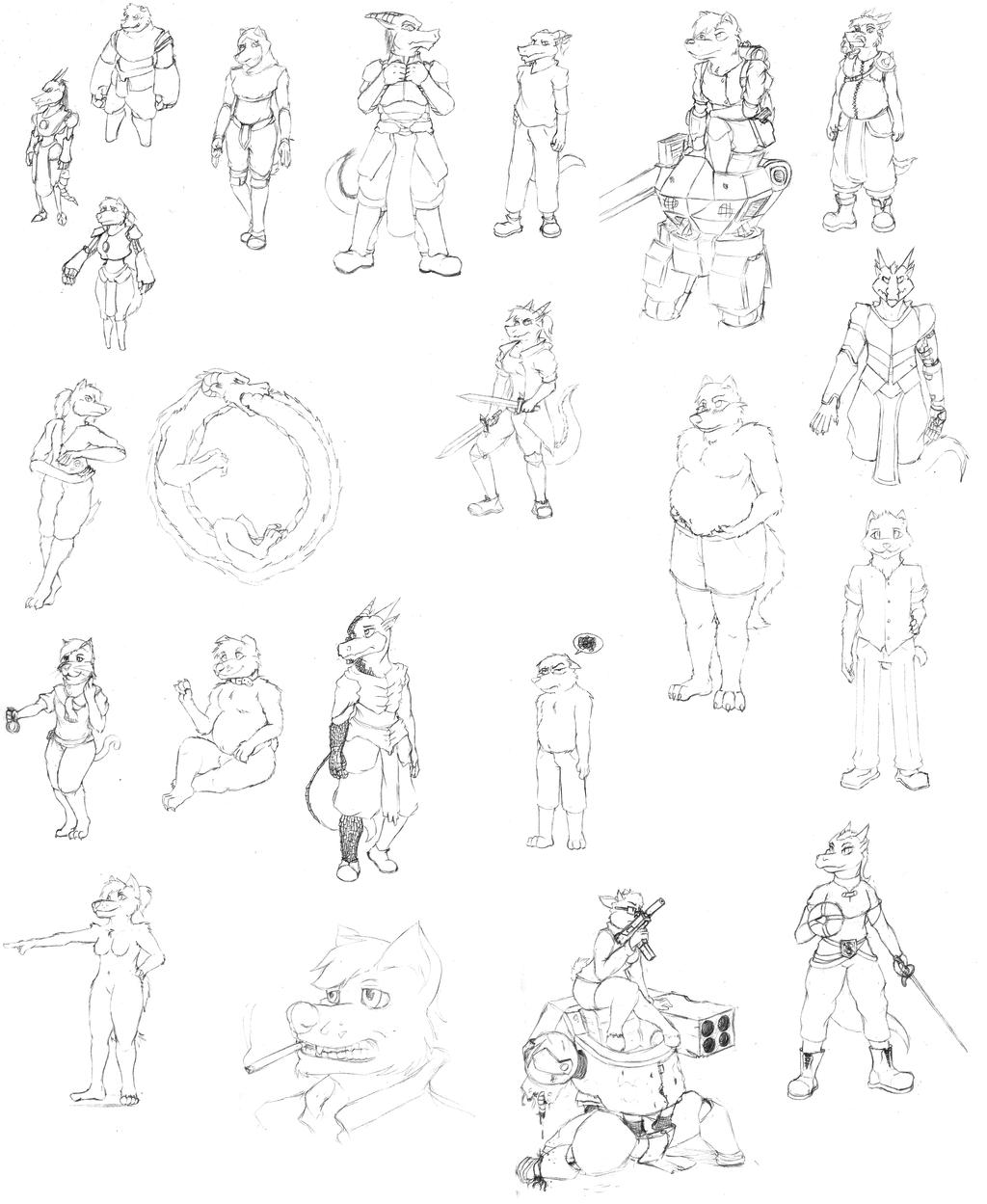 Big ol' Sketch page!
