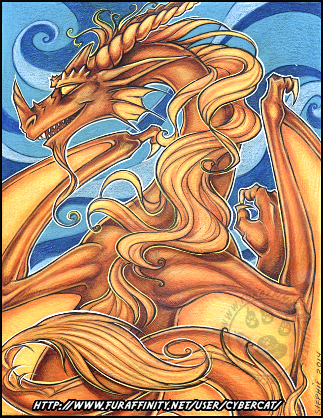 Dragon of the Wind Original Traditional Art Auction
