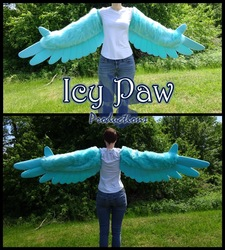 Sky blue arm wings