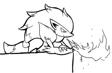 Zoroark Burns a Flower