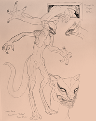 Horror Monster Concept Sketches