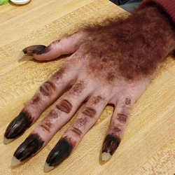 Quick and dirty werewolf hand