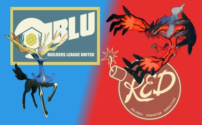 Xerneas Blu and Yveltal Red