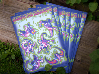 Rad Dino Paper Stickers