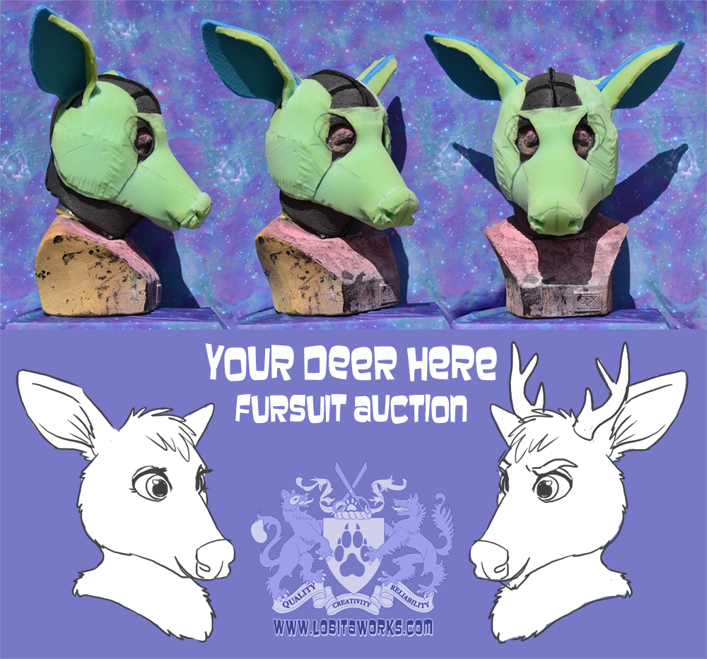 Most recent image: Your Deer Here! Custom Fursuit Auction