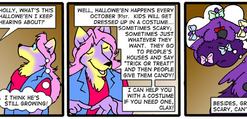Clax Learns About Halloween