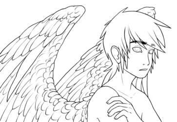 winged danny lineart
