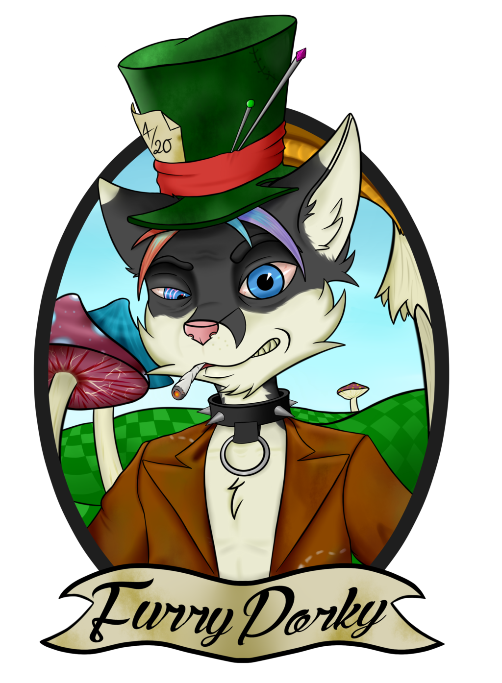 Porky the mad hatter