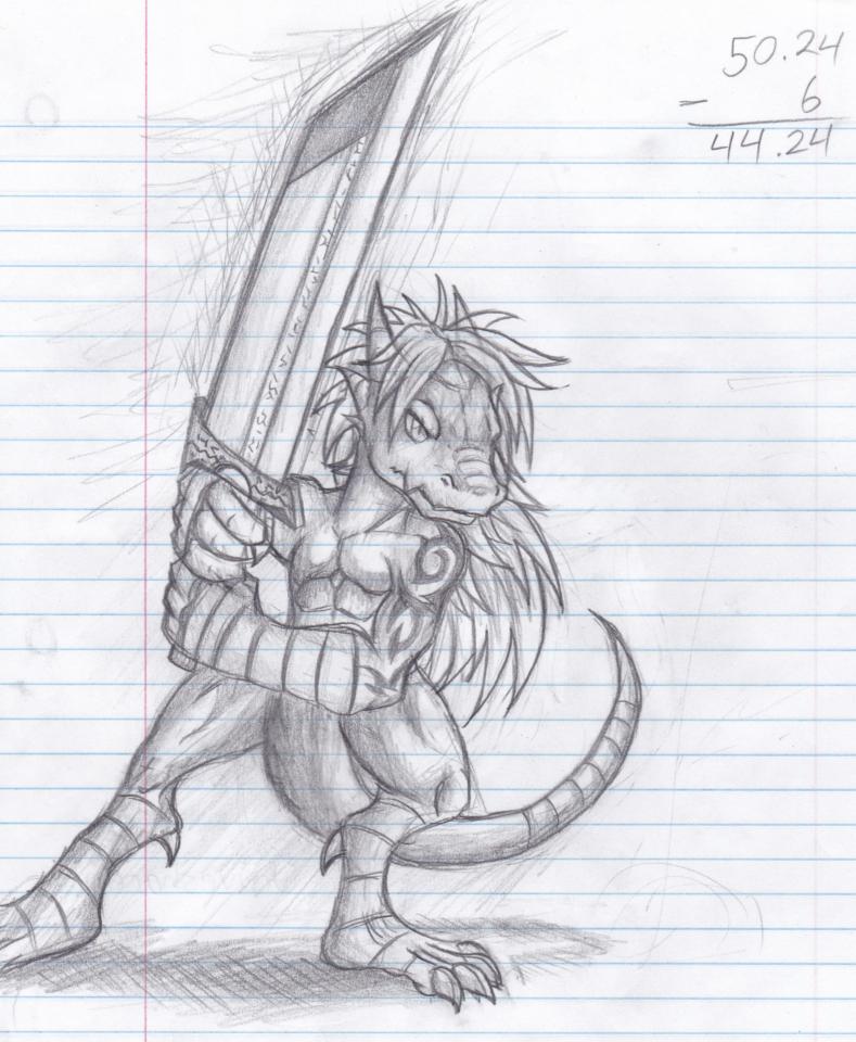Riygelian Fighter (Sketch)