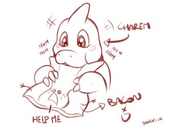 Charem Eats the Bacon! - by Dreiker