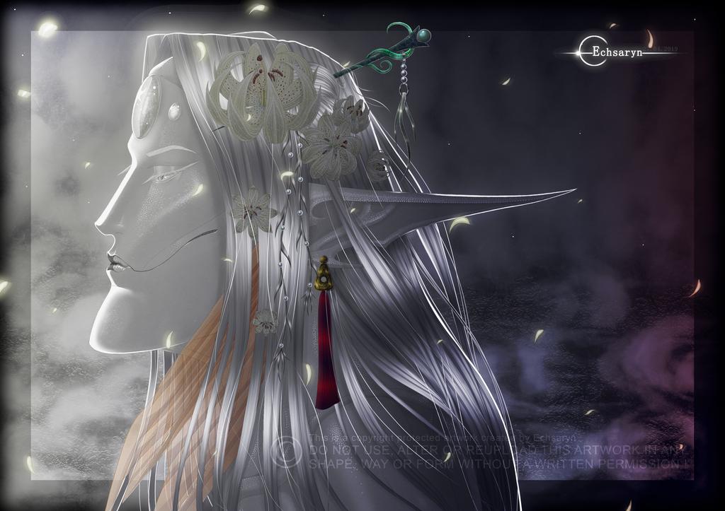 Echsaryn - Artwork - Fantasy - Sazaril - Flowers