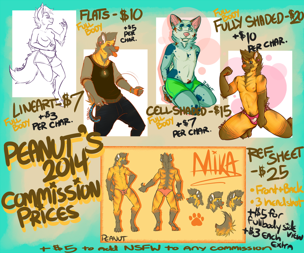 Commission Prices 2014