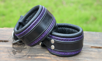 Purple & Black Cuffs
