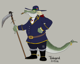 Tick Tock Cannibal Croc: concept art