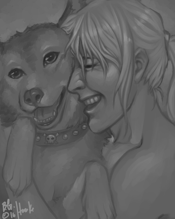 Bust, Speedpaint: Greg (and Dog)