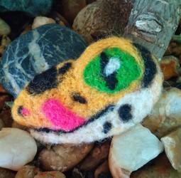 Felted Gecko