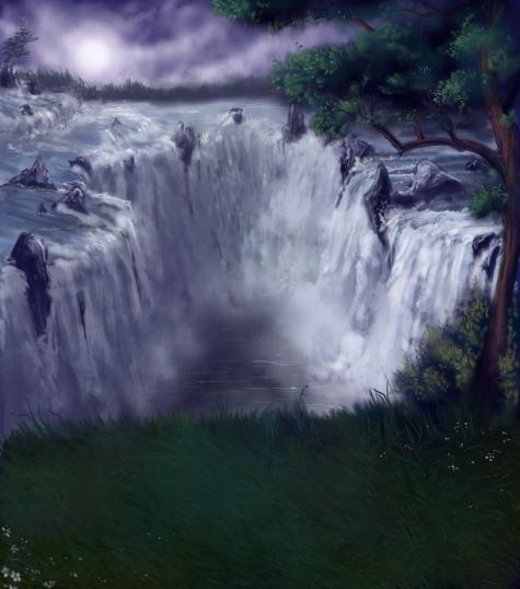 Pet Sim Background - Waterfall