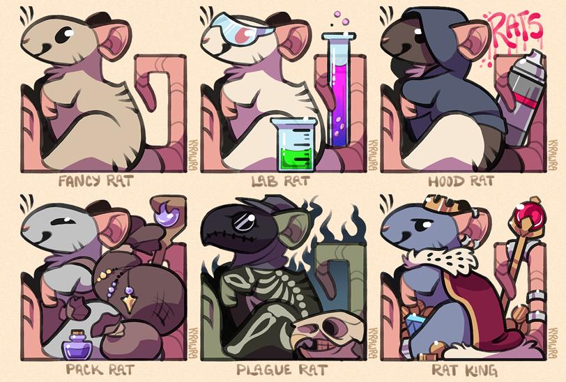 Rat Pun Badges