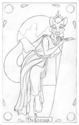 Tarot Card: Empress for Leinir - clean pencils