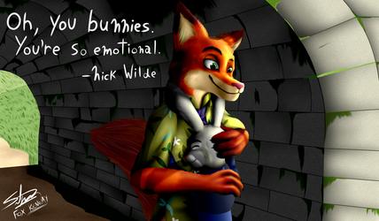 Judy hugging Nick - Zootopia