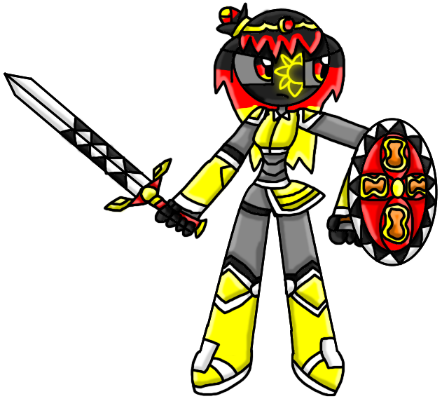 Johanna With Her New Shield