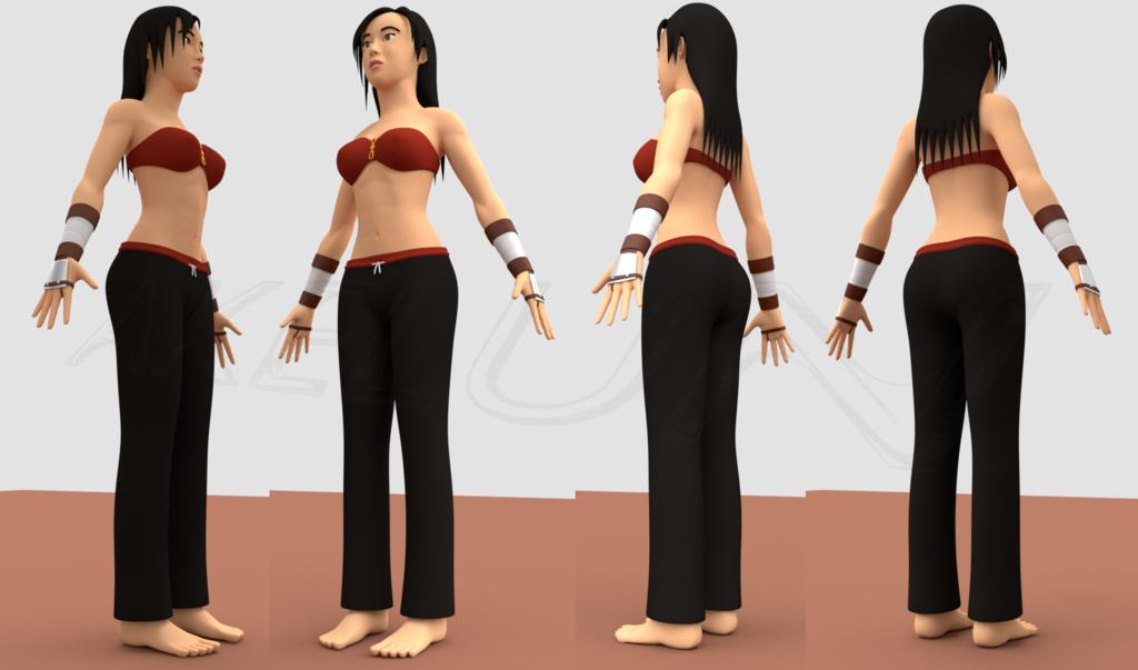 [WIP] Kawa (or Mizuko) 3D model