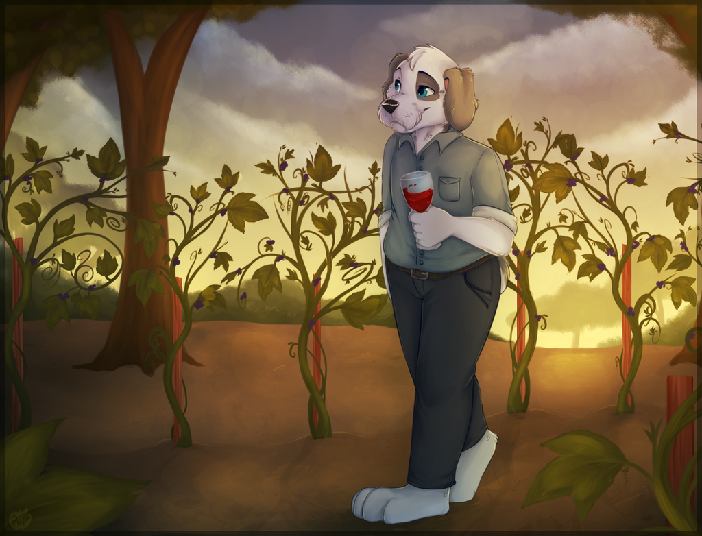 Vineyard Stroll by ApplePup