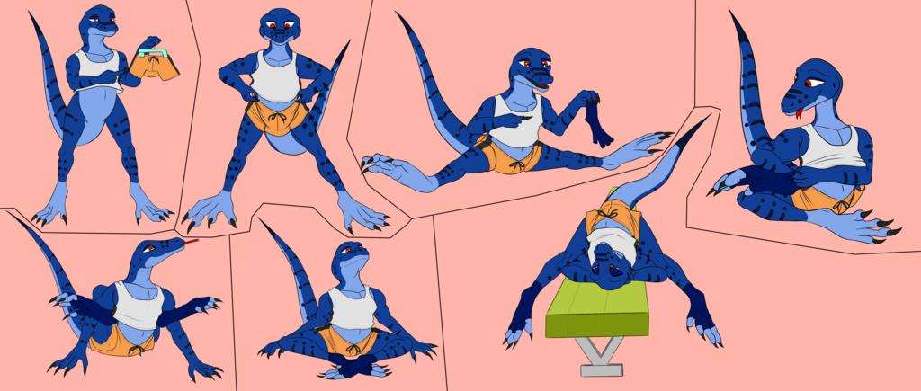 Tiko the very flexible monitor lizard
