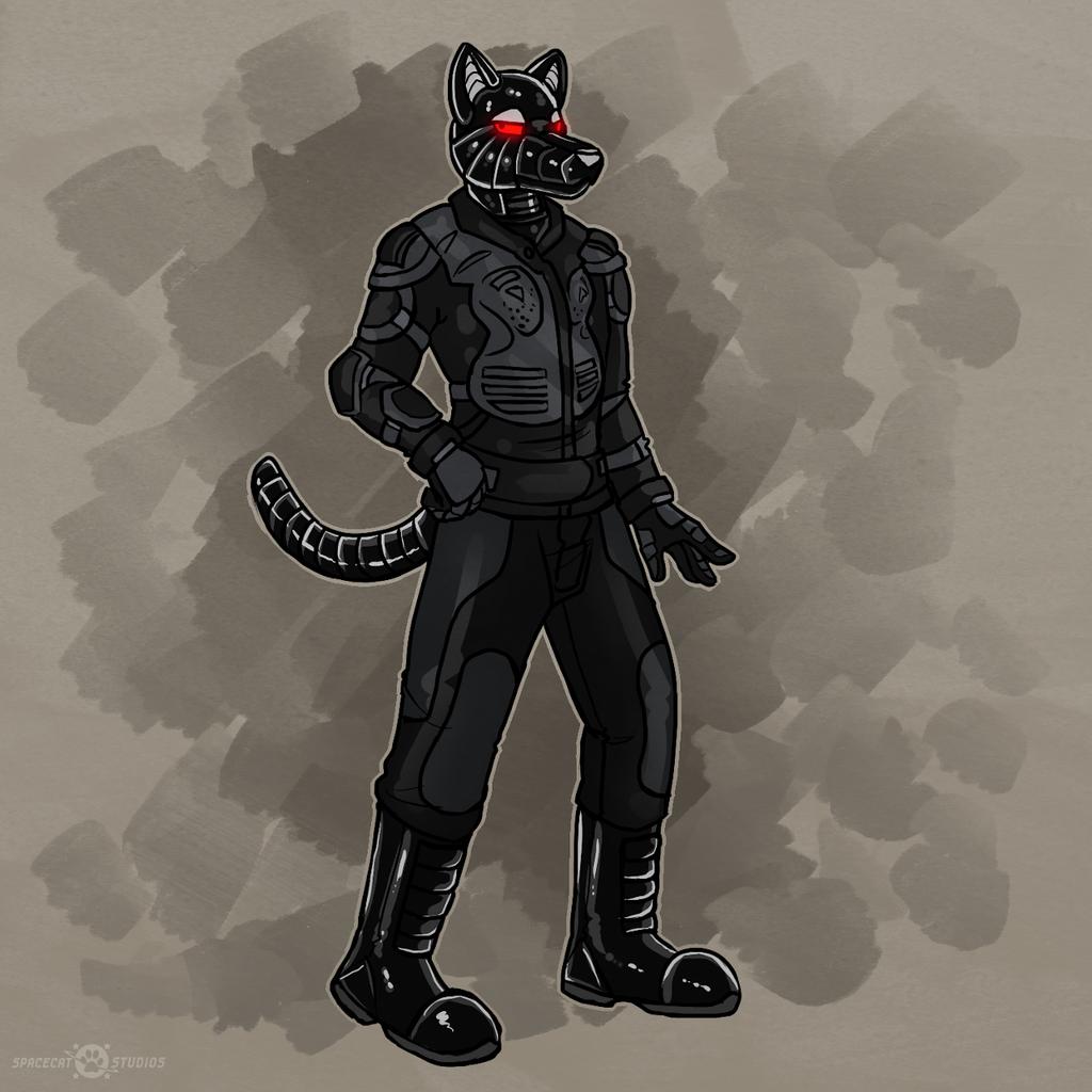 R-ALF the Cyberwolf, by Keetah Spacecat