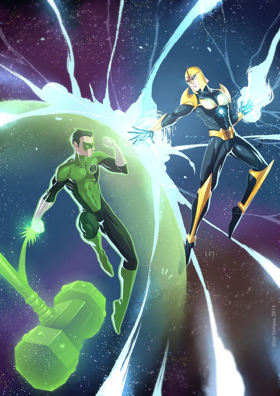 Green Lantern vs Nova Thanos