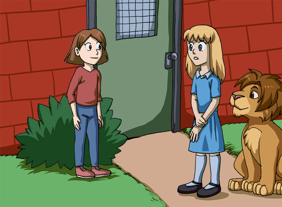 Most recent image: [commission] girl and lion 16