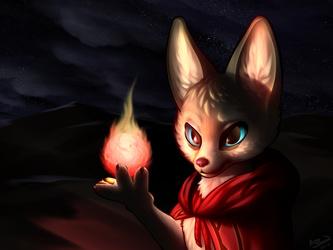 Fiery Fennec Fox