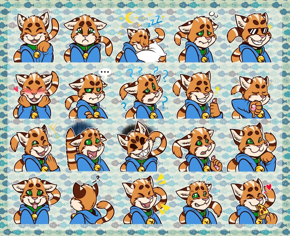 [commission] Telegram Stickers: Nivomi