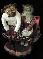 Time machine wedding cake topper