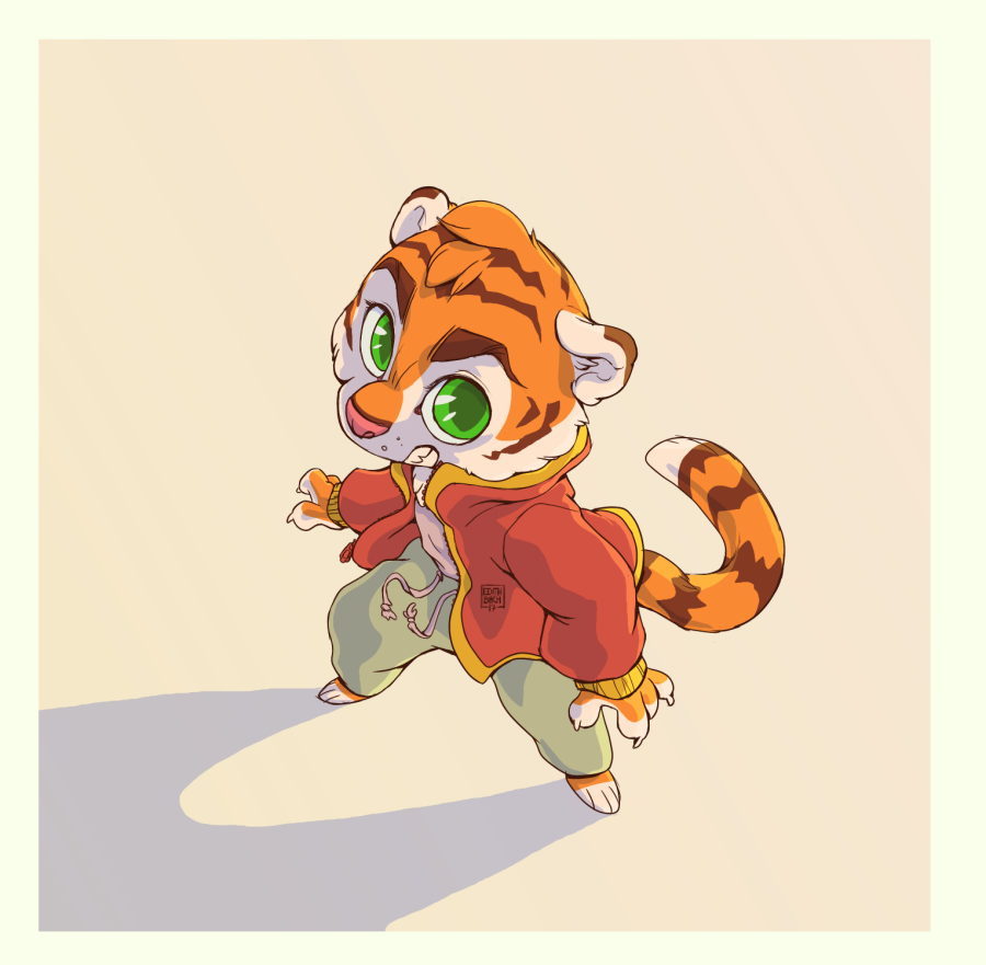 Most recent image: random toony tiger